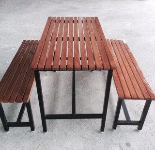 โต๊ะโรงอาหาร ไม้ระแนง