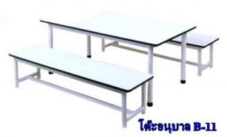 ชุดโต๊ะอนุบาล ม้านั่งยาว