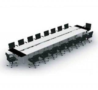 โต๊ะประชุม ขาเหล็กทอบทูโทน