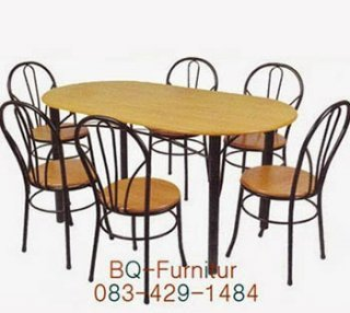 โต๊ะอาหาร หน้าโต๊ะรูปไข่