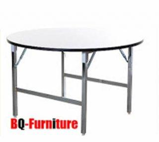 โต๊ะพับอเนกประสงค์ หน้าเมลามีน ขาเหล็กคู่