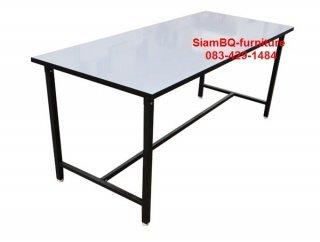 โต๊ะโรงอาหารหน้าโฟเมก้าขาว 1.2x1.2 นิ้ว