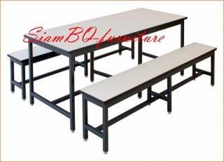 โต๊ะโรงอาหารไม้ปาติเกิ้ล 1.2x1.2 นิ้ว