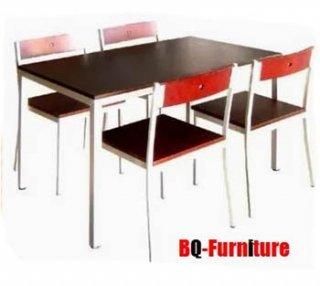 ชุดโต๊ะโรงอาหาร อเนกประสงค์พร้อม เก้าอี้นั่ง 4 ตัว