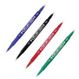 ปากกาเคมี 2 หัว ZEBRA MO 120 MC G สีเขียว