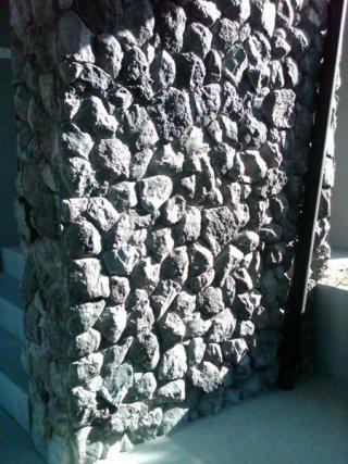 หินเทียมรุ่น Mountain Rubble Stone เทาดำ
