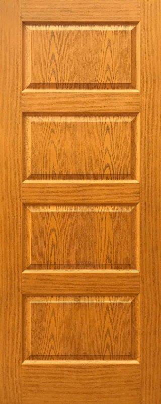 ประตู HDF รุ่น 4HT สีสัก
