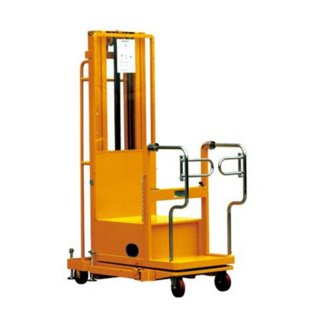 Double mast semi electric aerial order picker YLF