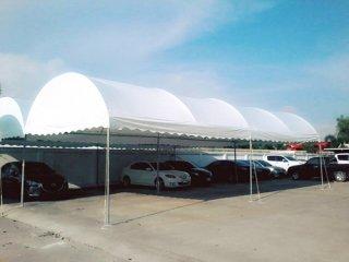 เต็นท์ผ้าใบทรงโค้ง ขนาด 5x12 เมตร และ 4x8 เมตร