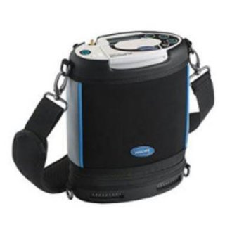 Portable oxygen generator with battery