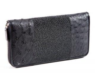 กระเป๋าเงินหนังกระเบนสีดำ