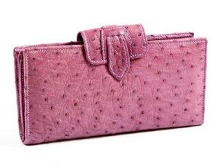 กระเป๋าเงินหนังสีชมพู