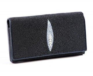กระเป๋าเงินหนังพับสีดำ
