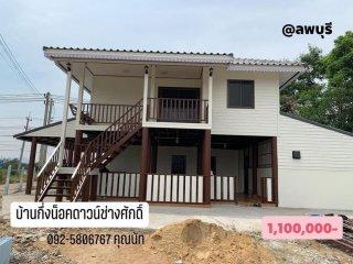บ้านกึ่งน็อคดาวน์ทรงปั้นหยา 123 ตารางเมตร