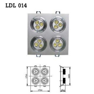 LED Downlight AC 100-230V 50/60Hz (LDL 014) , LED Light Bulb