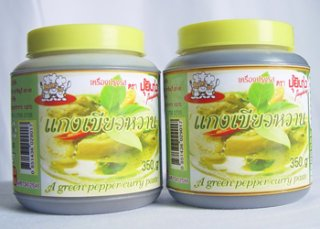 Instant Green Curry Paste, seasoning thailand