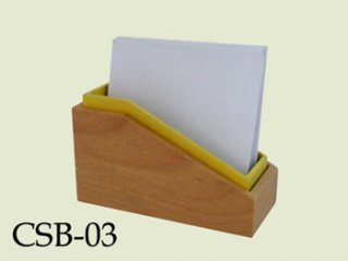 Rubber Wood Memo Holder