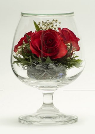 Natural Dry Flower in Vacuum Glass, gift souvenirs