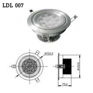 LED Downlight AC 100-230V 50/60Hz (LDL 007), LED Light Bulb