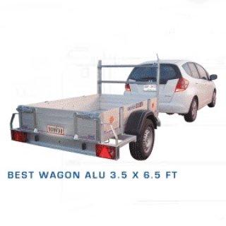 รถพ่วงอลูมิเนียม 3.5x6.5 ฟุต
