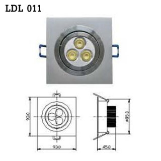 LED Downlight AC 100-230V 50/60Hz (LDL 011), LED Light Bulb