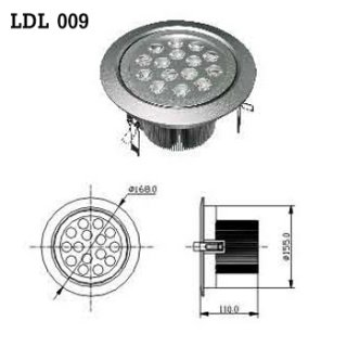 LED Downlight AC 100-230V 50/60Hz (LDL 009), LED Light Bulb