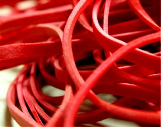 Compound Rubber Bands Red Color