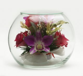 Dry Flower in Vacuum Glass, gift souvenirs