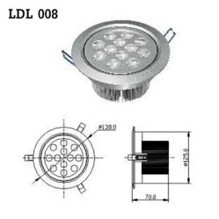LED Downlight AC 100-230V 50/60Hz (LDL 008)