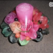 Aroma candle - Bush and Mixed Flowers in Wooden Tray, candle thailand