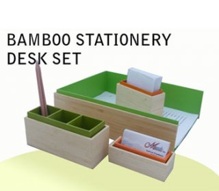 Bamboo Stationery Desk Set