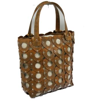 กระเป๋าถือ หนังงูทะเลแท้